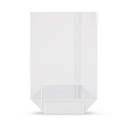 elke-plastic OPP Kreuzbodenbeutel 30mµ I Bodenbeutel transparent I Klarsichttüten I Gebäckbeutel I Kekstüten I Geschenktüten transparent I Zellophan Tüten (115x190 100 Stück)