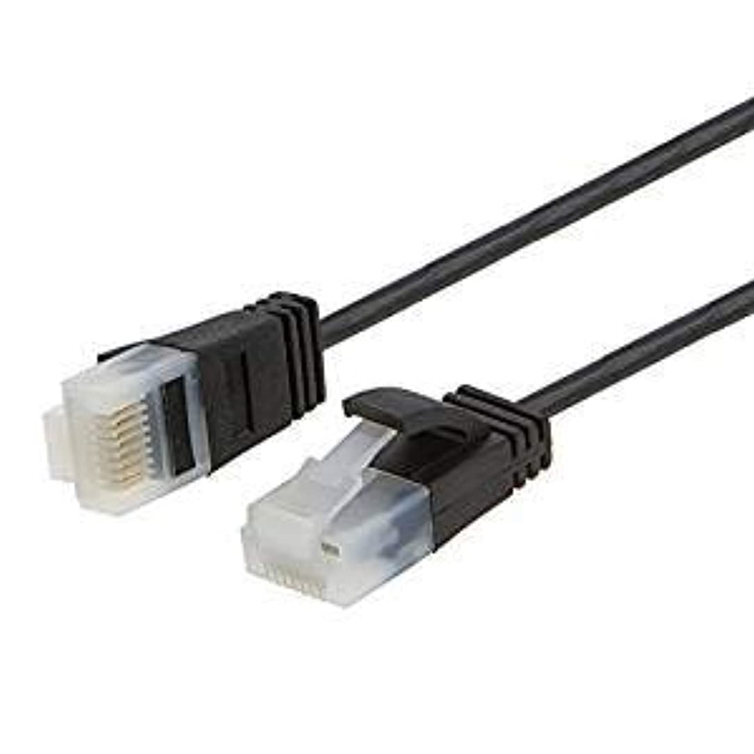 Ultra Thin Cat6a Ethernet Cable, CableCreation 2-Pack UTP 10 Gigabit 500MHz Ethernet Patch Cable, Ultra Slim High Speed RJ45 LAN Network Cable for Modem, Router, Computer, 6.6ft, 2m, Black