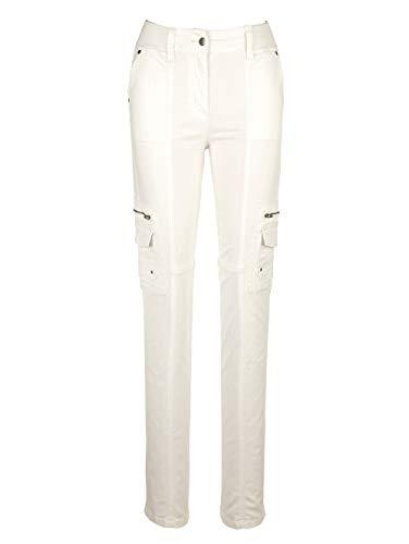 Paola Damen Cargohose Weiß 38 Baumwolle