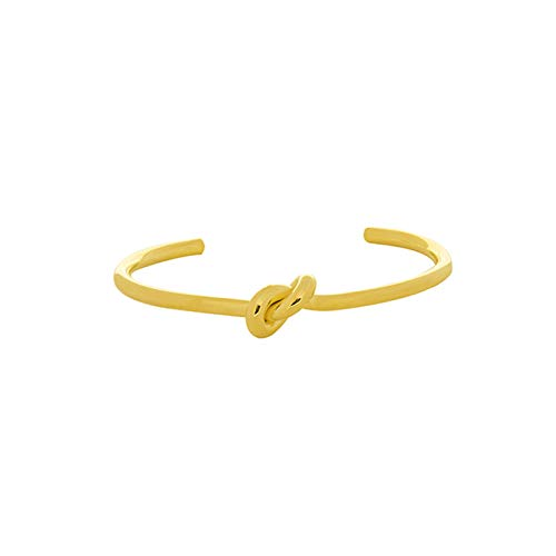 Yehwang® EST. 2008 Schmuck Großhandel Premium-Design Damen Vergoldet Knoten Armreif Für Frauen, Kupfer Armband Cool Knot 6.2 cm (Gold)