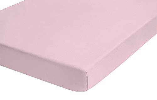 TOM TAILOR 0077788 Jersey Spannbetttuch (Matratzenhöhe max. 22 cm) (Baumwolle) 90x190 cm -> 100x200 cm, rose