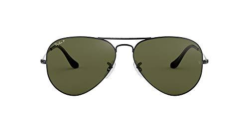 Ray-Ban Aviator Gafas de sol, Gunmetal, 62 para Hombre