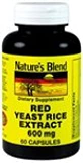 Nature's Blend Red Yeast Rice Extract 600 mg 60 Capsules