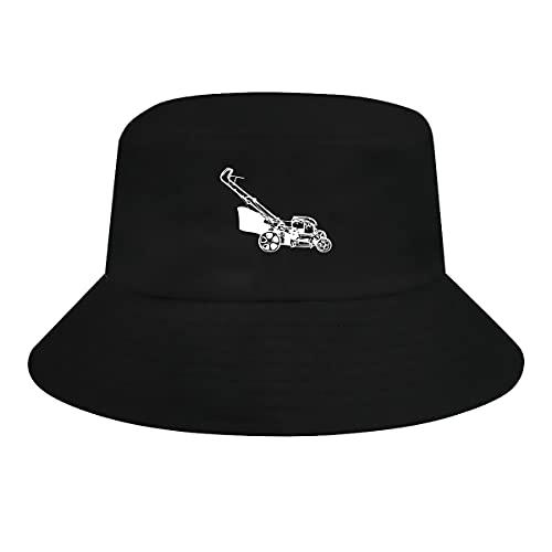 Ziixi Cortacésped Cubo Sombrero Hombres Mujeres Tamaño Grande Divertido Sol Sombreros De Verano Gorra De Pesca Al Aire Libre Sombrero Negro