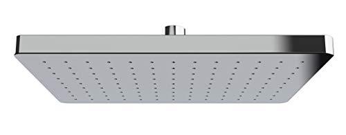 WENKO Regenduschkopf Automatic Cleaning - Anti-Kalk Universal-Kopfbrause mit automatischem Reinigungssystem, Kunststoff (ABS), 17 x 25 cm, Silber glänzend