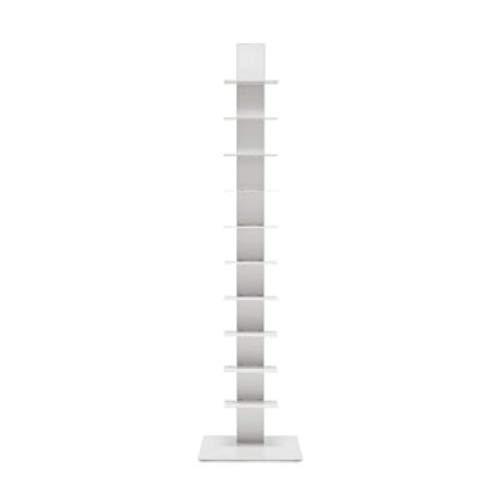 BBB Italia - Estantería de columna vertical de Bruno Rainaldi - Modelo Sapiens - Color blanco - 152 cm de alto - 10 estantes