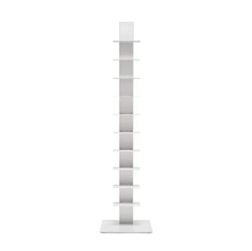 BBB Italia Sapiens Bücherregal, vertikal, Weiß H152 10 Regalböden Bruno Rainaldi