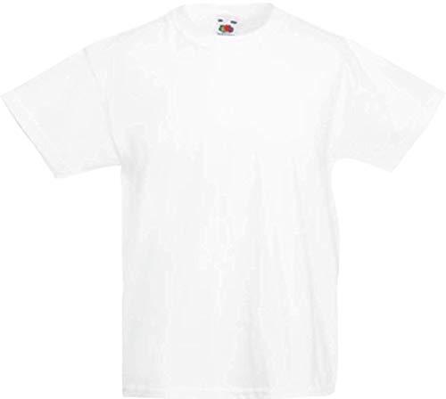 Shirtinstyle Kinder-Shirt Basic Uni Fruit of The Loom, Farbe Weiss, Größe 116