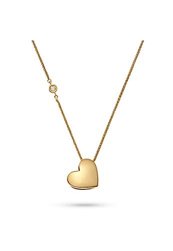 CHRIST Damen-Kette 375er Gelbgold 1 Diamant One Size 87492397