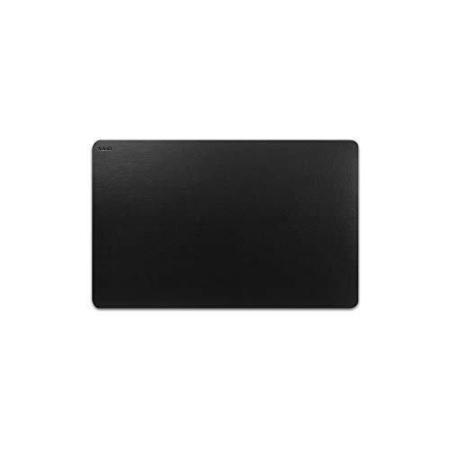 Nekmit Leather Desk Blotter Pad 17 x 12 Inches, Waterproof, Non-Slip, Black, Ideal for Home and Office