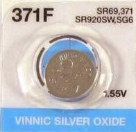 Vinnic 酸化銀ボタン電池 SR920SW 1個 (371EF / AG6)