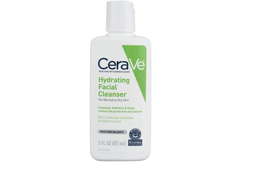 CeraVe Facial Cleanser, Hydrating Cleanser, 3 Ounce