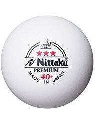 Nittaku Premium 40+ - Juego pelotas tenis mesa 3 unidades