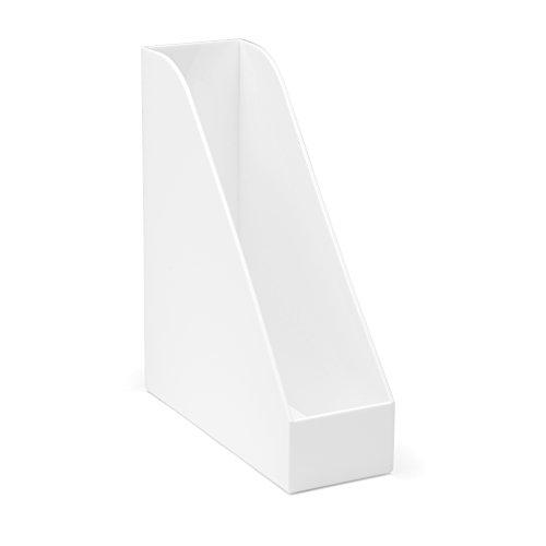 Osco 3244A-OW White Hi-Gloss Magazine Rack