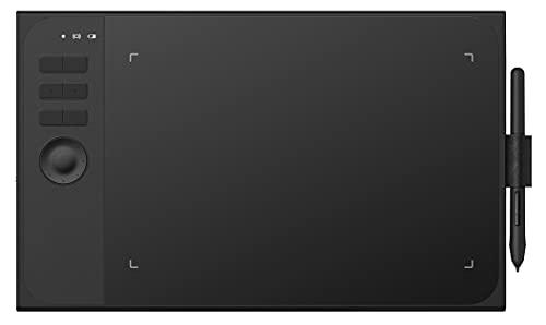 Xyfw Tableta Gráfica De Dibujo con 8192 Niveles De Sensibilidad A La Presión, Diseño En Modo Cableado E Inalámbrico con Llave De Rodillo