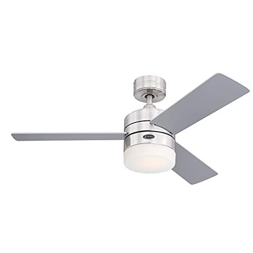 Westinghouse Lighting Ceiling Fan, Satin Chrome