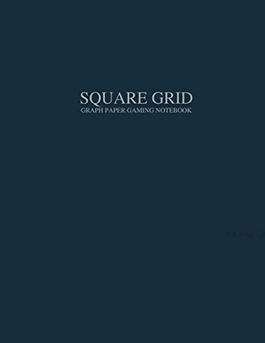 Square Grid Graph Paper Gaming Notebook: Squares on Both Sides: Tear Out and Piece Together to Make Any Size or Length Battle Grid Game Map Battle Mat ... Grey Grid 1 Inch (2.54 cm) 140 Pages 8.5