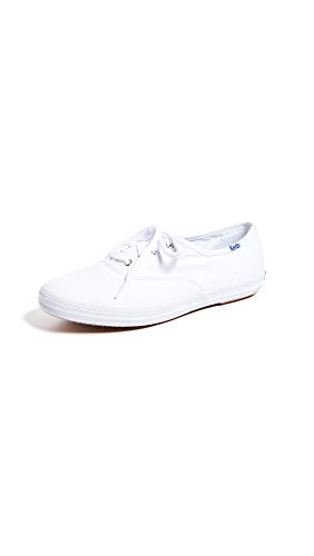 Keds womens Champion Canvas Sneaker, White, 8.5 US