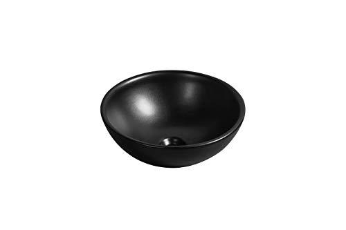 Waschbecken - Design Aufsatzwaschbecken, Waschschale Rund schwarz matt 415 * 415 * 160 mm mit Lotus Effekt (Bol) von Art-of-Baan®