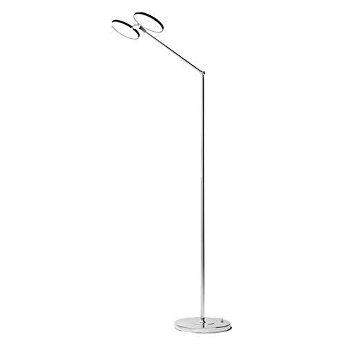 YI0877CHANG Lámpara de Pie Fuente Lámpara de pie LED Dual de luz Vertical Piso lámpara de Mesa de Noche Salón Dormitorio de Aprendizaje de Lectura lámpara de luz Natural 20W Lámpara de Suelo