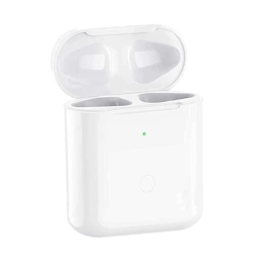 BIEZIAYA Kabelloses Ladecase Kompatibel mit Earbuds1 und 2, Wireless Charger Case Ersatz Ladecase mit Bluetooth Synchronisierungstaste, 450mA Built-in Batterie,Weiß