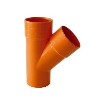 Raccordo Gomito Curva pvc Arancio 45° da 100