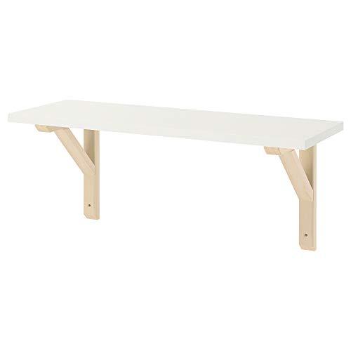 BurhULT/SANDSHULT półka ścienna 59 x 20 cm biały/osika