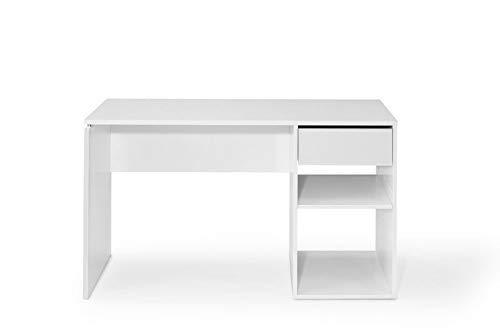 TOP KIT | Mesa de Escritorio Burgos 5012 con cajón (Ancho 120cm) | Blanco