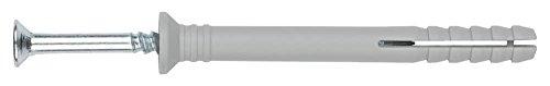 INDEX Fixing Systems TCCA05025 [TC-CA] clavable de poliamida 6.6, premontado con tornillo rosca-arpón. Taco con cabeza avellanada (5 x 25 Ø5), 5 x 25 mm, diámetro de 5 mm, Set de 100 Piezas