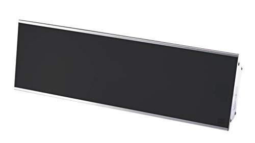 Heizstrahler RELAX GLASS IP65 1200 Watt von Burda, [Gehäusefarbe]:Schwarz - Silbernes Gehäuse