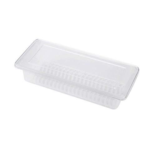 xmwm Cartucho de contenedor rectangular fuera de los refrigeradores de la cocina de la bandeja del drenaje de alimentos frescos