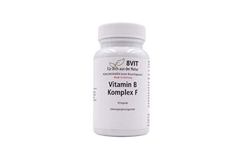Vitamin B-Komplex F - Aktionspreis! - hochdosierte Vitamin B Komplex Formel - 90 vegane Kapseln - für Nerven-System, Haut, Stoffwechsel
