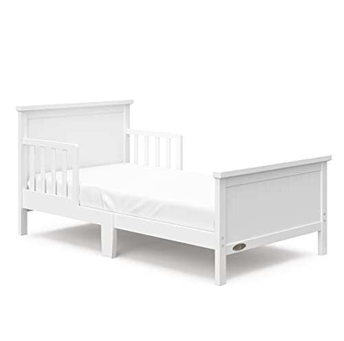 Graco Bailey Toddler Bed, Toddler Bed Frame Fits Standard-Size Crib and Toddler Bed Mattress, White