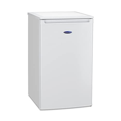 IceKing RK104WE Under Counter Freestanding Fridge With Mini Freezer Box - 50cm White