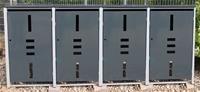 edi Garden Mülltonnenbox Metall - Mülltonnenverkleidung Mit Aufklappbarem Deckel Für 4 Mülltonnen Mit 120/240 Liter - Anthrazit