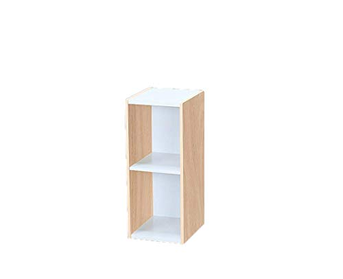 Marchio Amazon - Movian Libreria modulare a 2 ripiani in MDF, Beige, 25 x 29 x 60 cm