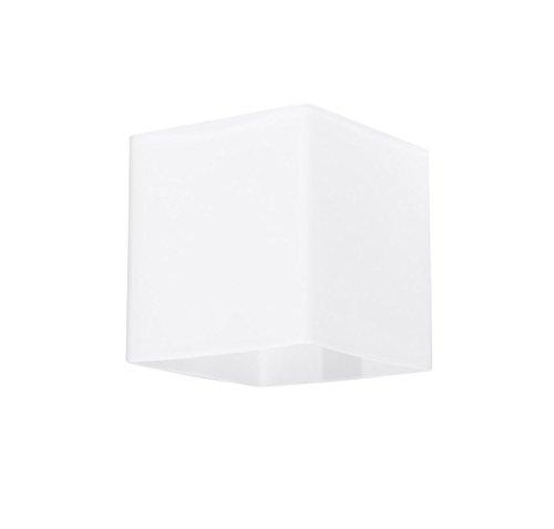 Bauhaus Wandleuchte (Bauhaus, Weiß, Rechteckiger Schirm) Innenlampe Hotellampe Flurlampe Wandlampe