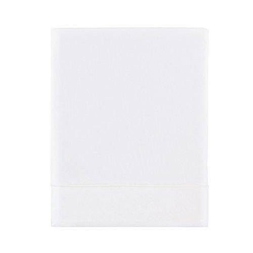 Essix - Drap Plat Triumph Line Satin de coton Blanc 240 x 300 cm
