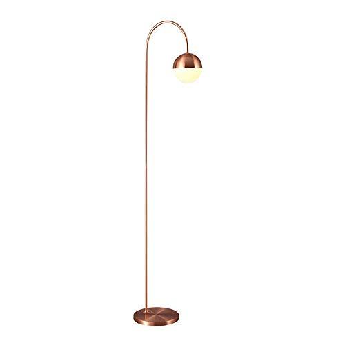 LEGELY staande lamp zwart gebogen voor leeskamer woonkamer / E27 moderne staande lamp, studio/glazen scherm / 156,5 cm
