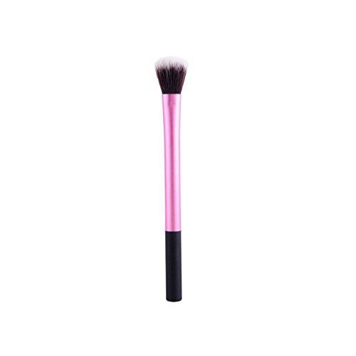 Timesong Professional Cosmetics Surligneur Broche de sélection de brosse, Poignée en plastique, Fibre Laine Fond de teint Brosse.