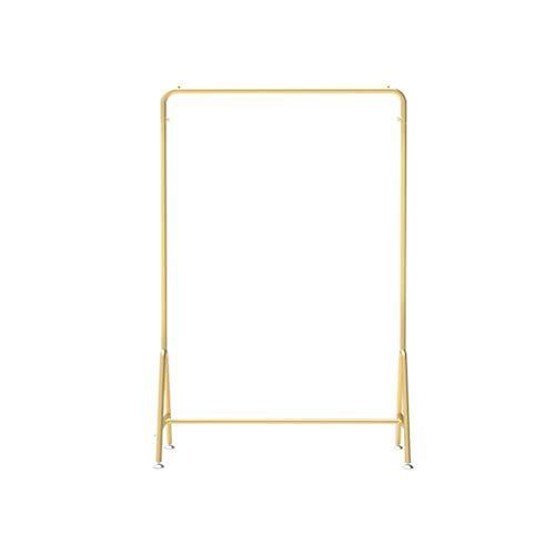 AOYANQI-Percheros Tienda de ropa soporte de exhibición, Escudo Barra horizontal del soporte del metal ropa barandilla del balcón Tendedero Altura dormitorio simple: el 150cm Multiusos