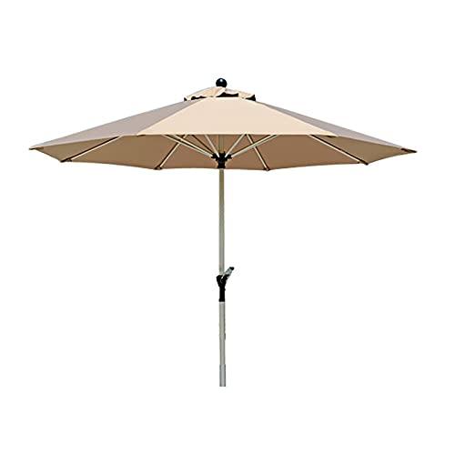 Sombrilla Sombrilla redonda extra grande para piscina de 8.9 pies, sombrilla de jardín para patio con 8 varillas resistentes y manivela conveniente para mesas de café, picnics en la playa, porche, cam