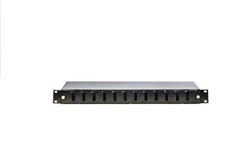 1U 19' 12 Port Fiber Optic Patch Panel SC DUBLEX