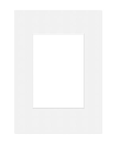 Deha Passepartout, 21x29,7 cm (DIN A4), für Bilder im Format 13x18 cm, Weiß (Hellweiß)