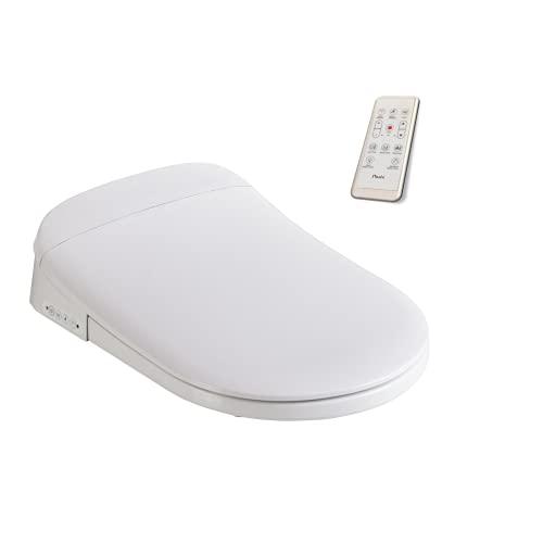 Nashi - Tapa y Asiento para Inodoro Japonés Deluxe Pro  Bidet Acoplable al Sanitario con Funciones de Lavado con Agua y Secado   Tapadera de WC Inteligente con Caída Amortiguada - 51,5 x 37 x 11,6 cm