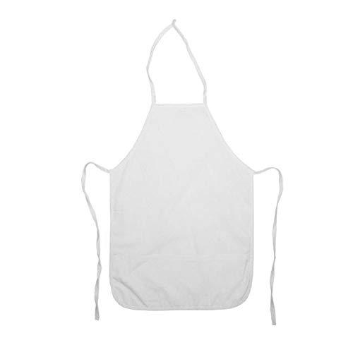 Dress Up America Tablier de chef blanc pour les enfants , taille 4-6 ans (taille- 71-76 , hauteur- 99-114 cm) , Marron-Blanc.