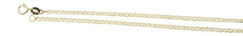 Hobra-Gold 50 cm gouden ketting 585 - platte geslepen ankerketting - gouden ketting - halsketting