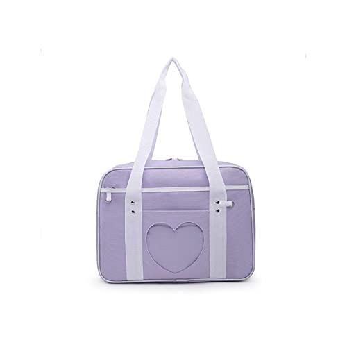 SteamedBun Ita Bag Heart Japanese School Kawaii Large Shoulder Anime Purse for Lolita JK Women (Purple)