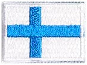 フィンランド 国旗 アイロン ワッペン ミニ 約33x24mm