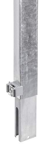 GAH-Alberts 672652 Zaunerhöhung Erhard | zur einfachen Erhöhung eines vorhandenen Doppelstabmattenzaunes | feuerverzinkt | Höhe 600 mm | für Pfosten 60 x 40 mm